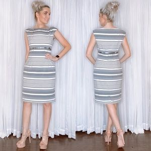 Calvin Klein Striped Business Professional Dress